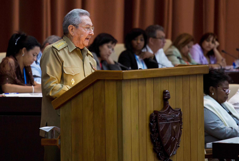 Raúl Castro durante discurso ao Parlamento cubano, em Havana, em dezembro de 2017.