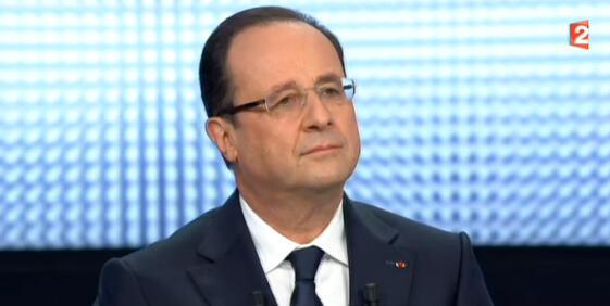 O presidente François Hollande explicou sua política de governo aos franceses em uma entrevista ao vivo na televisão nesta quinta-feira, 28 de março de 2013.
