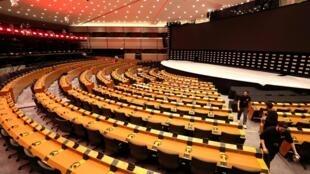 Vista de la sala plenaria del Parlamento Europeo. Bruselas, Bélgica, 22 de mayo de 2019.