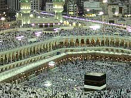 A cada ano 2 milhões de muçulmanos vão em peregrinação a Meca.