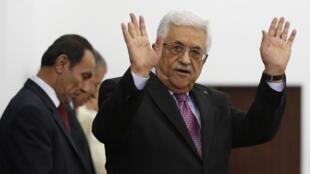 Le président palestinien Mahmoud Abbas le 2 juin 2014, jour de formation d'un gouvernement d'union palestinien.