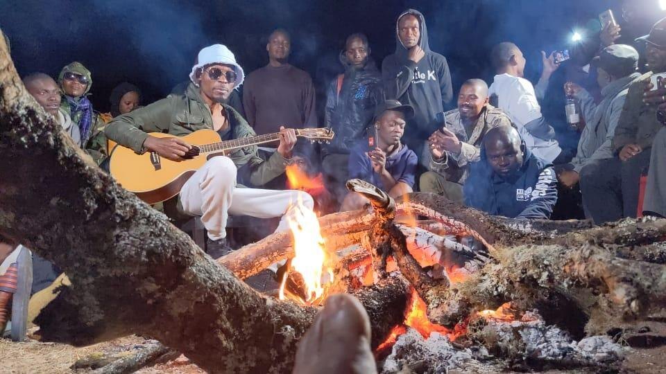Afro jazz musician Lawi gives a concert at Malawi's Mt. Mulanje to call attention to conservation efforts to protect the flora and faune of the mountain.