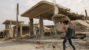 The ruins of the Syrian town of Kobane after Kurdish militias retook it from Islamic State