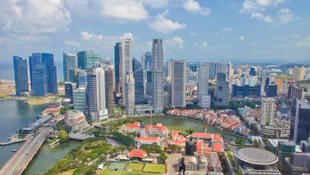 Une vue générale de Singapour.