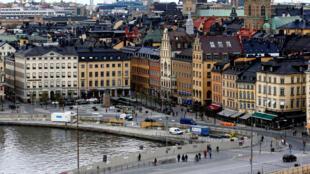 圖為瑞典斯德哥爾摩以街區市景