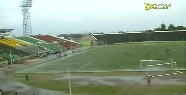 Le stade Tata-Raphaël de Kinshasa, théâtre de la finale aller de la finale de la Ligue des champions de la CAF 2014.