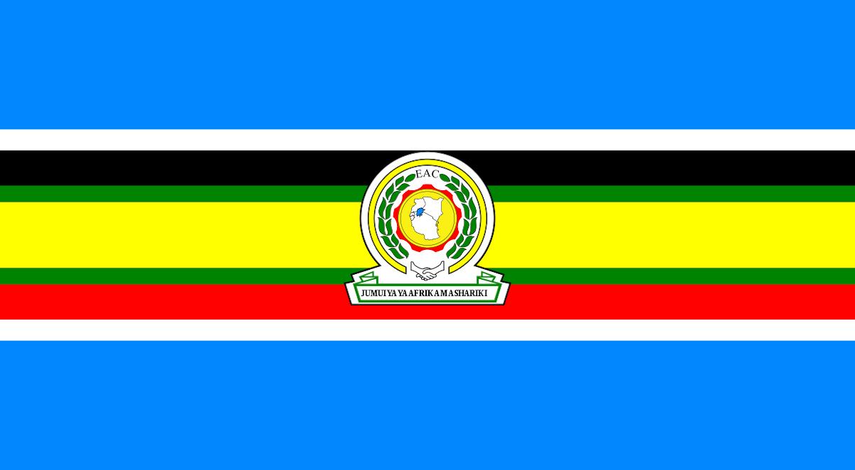 Bendera ya Jumuiya ya Afrika Mashariki, EAC.