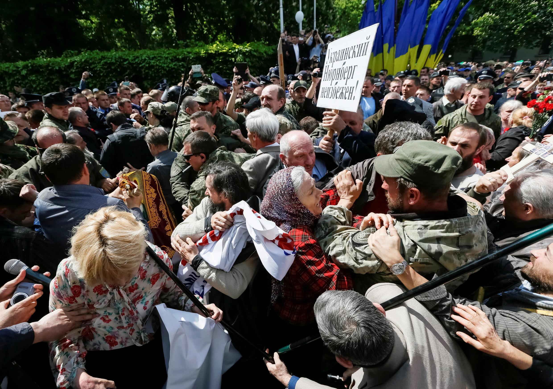 Столкновения в Киеве во время мероприятий 9 мая