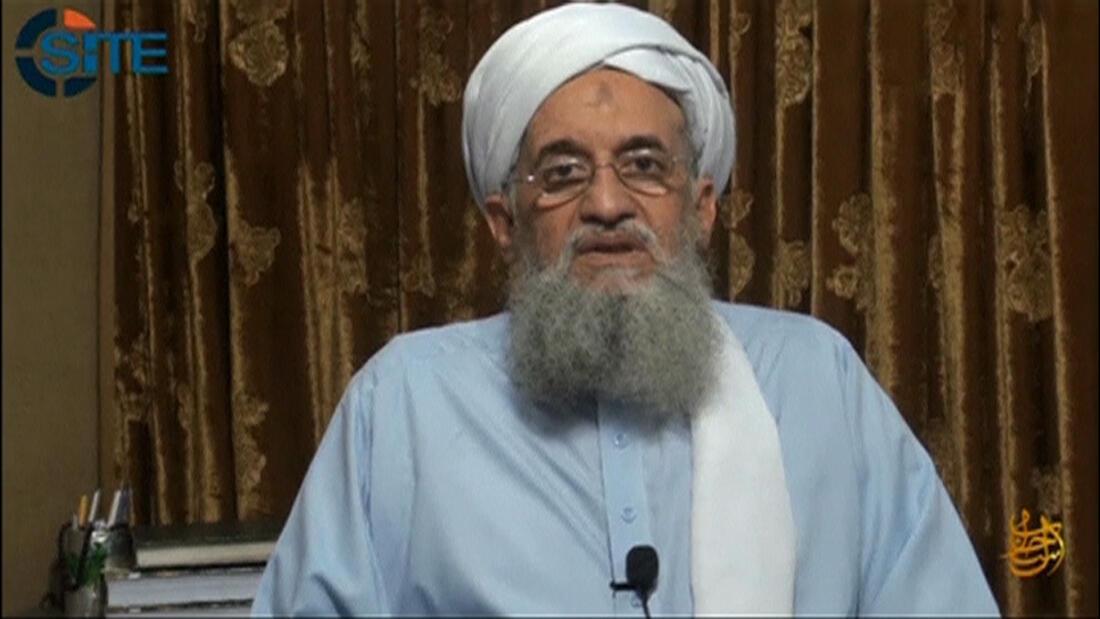 Lãnh tụ Al Qaida Ayman Al Zawahri loan báo thành lập chi nhánh tại Ấn Độ ngày 04/09/2014.