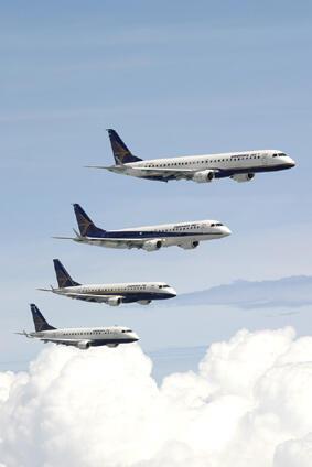 Jatos comerciais da Embraer.