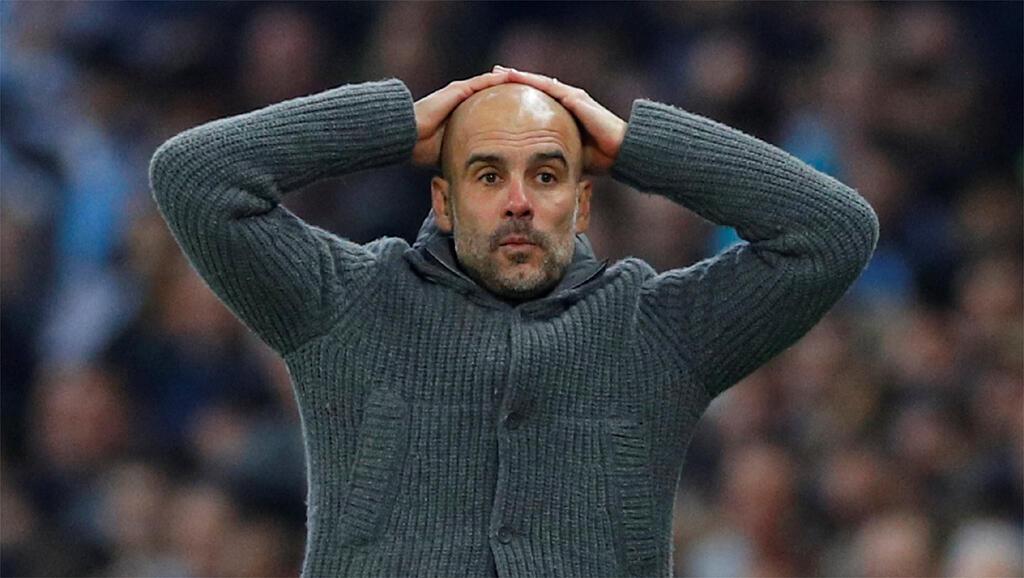 Pep Guardiola (Manchester City) katika mechi dhidi ya Tottenham, Aprili 17, 2019.