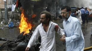 2013年9月29日,巴基斯坦北部白沙瓦的爆炸案現場。