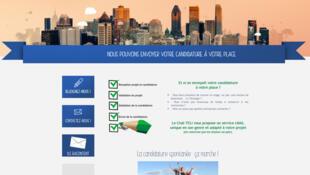 La page d'accueil de «Envoi de CV», le nouveau projet Club Teli pour aider à trouver des jobs et des stages à l'étranger.