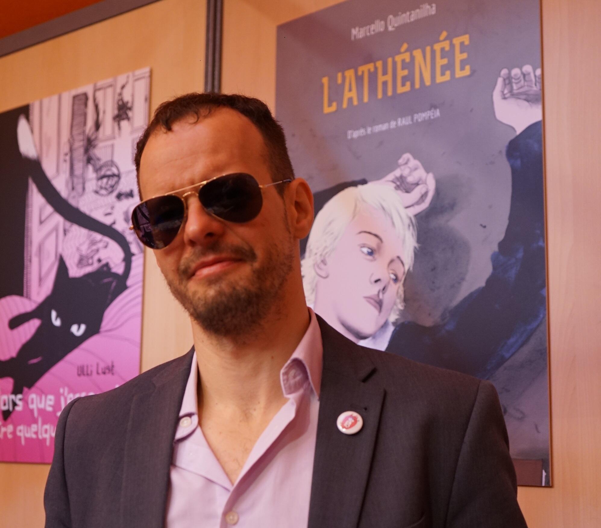 """Marcello Quintanilha, autor de """"Tungstênio"""" e """"O Ateneu""""."""