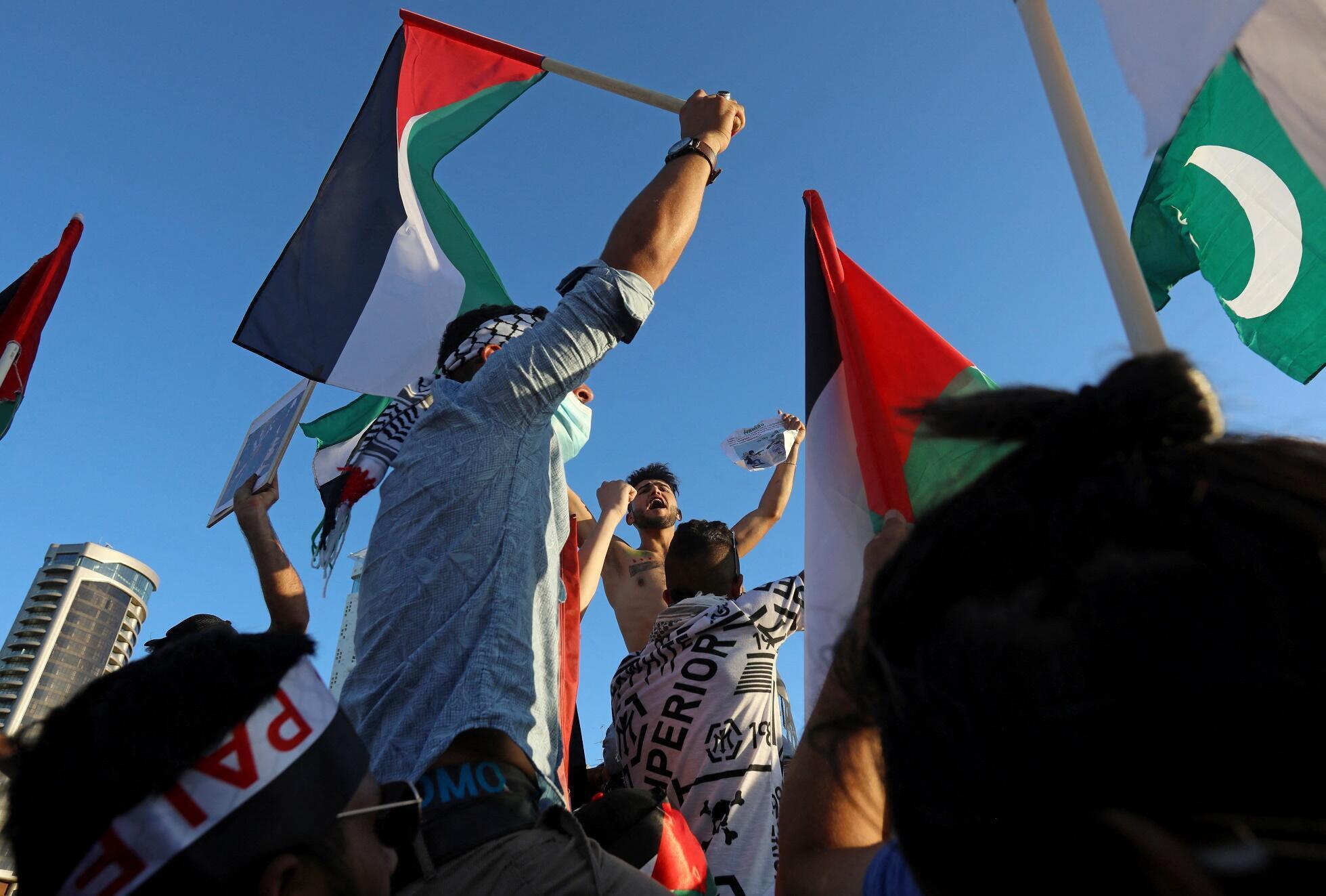Manifestants en faveur de la cause palestinienne (Image illustration).