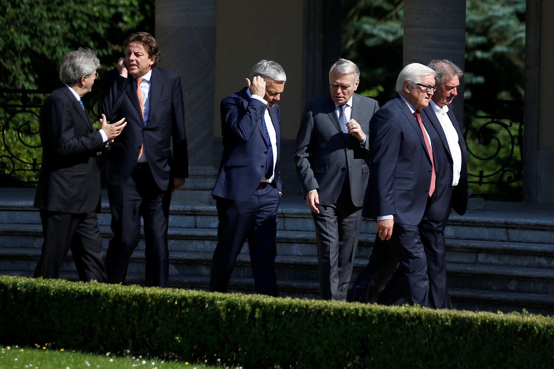 Главы МИД шести стран-основательниц Евросоюза в Берлине, 25 июня 2016 г.