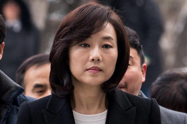 L'ancienne ministre de la Culture Cho Yoon-sun a été arrêtée le mois dernier et a été inculpée mardi 7 février.
