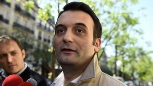 Former FN Vice President Florian Philippot, who quit Thursday. Party leader Marine Le Pen says she'll rebuild without him.