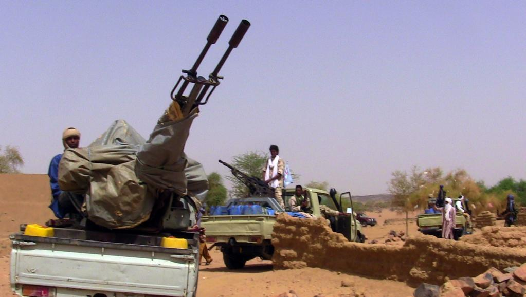 Des membres d'un groupe armé à Kidal, le 13 juillet 2016.