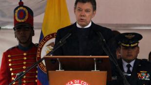 El presidente colombiano Juan Manuel Santos, el 7 de agosto de 2011.