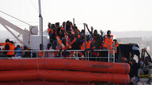 The Lifeline docks in Malta this week