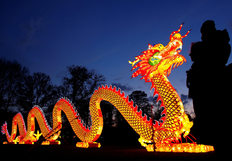 Lễ hội ánh sáng Trung Quốc tổ chức tại Cologne (Köln), Đức ngày 25/11/2017.