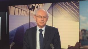 Herman Van Rompuy, ex-président du conseil européen, dans le locaux de RFI le 19 avril 2018.