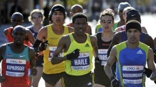 Haile Gebrselassie a gaba a gasar Marathon da aka gudanar a birni New York