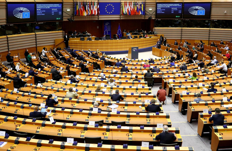 Le Parlement européen en session plénière à Bruxelles. Ici le 23 juillet 2020.