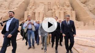 法國總統馬克龍展開對埃及為期三天的國事訪問