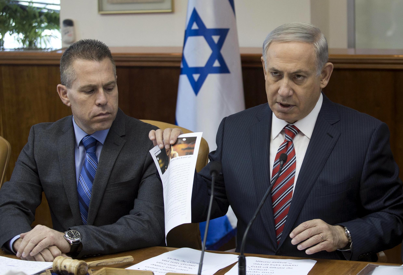 巴以暴力冲突周末急剧升温 以色列总理内塔尼亚胡在周末内阁安全会议上