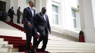 Barack Obama et Macky Sall se sont entretenus au palais présidentiel afin de discuter de leur vision commune des relations entre l'Afrique et les Etats-Unis, ce jeudi 27 juin.