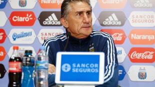 Edgardo Bauza, entraîneur de l'équipe nationale de l'Argentine, le 13 novembre 2016.