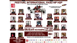 Le festival international Faso Hip-Hop a lieu à Ouagadougou, du 9 au 11 novembre 2017.
