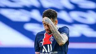 L'attaquant brésilien du Paris Saint-Germain, Neymar, lors du match de L1 à domicile contre Lille, le 3 avril 2021 au Parc des Princes