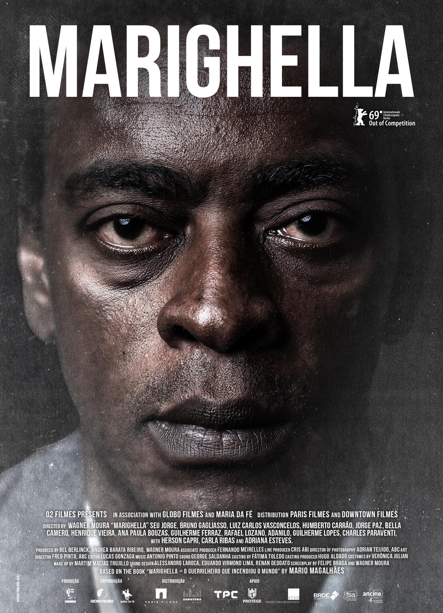 Seu Jorge vive Marighella em filme dirigido por Wagner Moura.