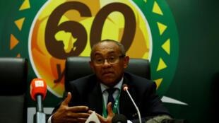 Le Malgache Ahmad, président de la Confédération africaine de football.