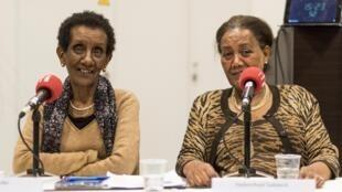 Engudai Bekele et Tadelech Haïlémikael témoignent lors du Colloque «Penser le Genre des violences politiques en Afrique» à Bordeaux, en octobre 2019.