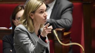 Agnes Pannier-Runacher lors d'une séance de questions au gouvernement à l'Assemblée nationale française, le 12 novembre 2019.
