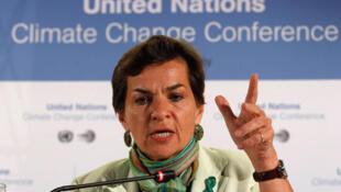 Christiana Figueres, secretária-executiva da ONU, em 6 de junho em Bohn.