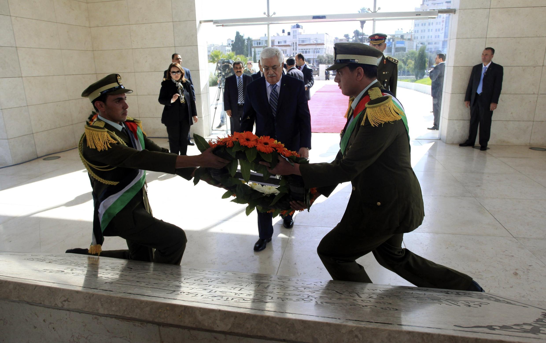 مراسم دهمین سالروز مرگ یاسر عرفات، رهبر فقید تشکیلات خود گردان فلسطین