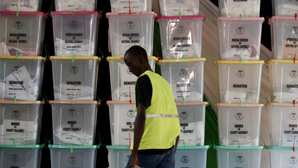 Des urnes dans un centre de dépouillement à Mombasa, au Kenya, ce mercredi 9 août 2017
