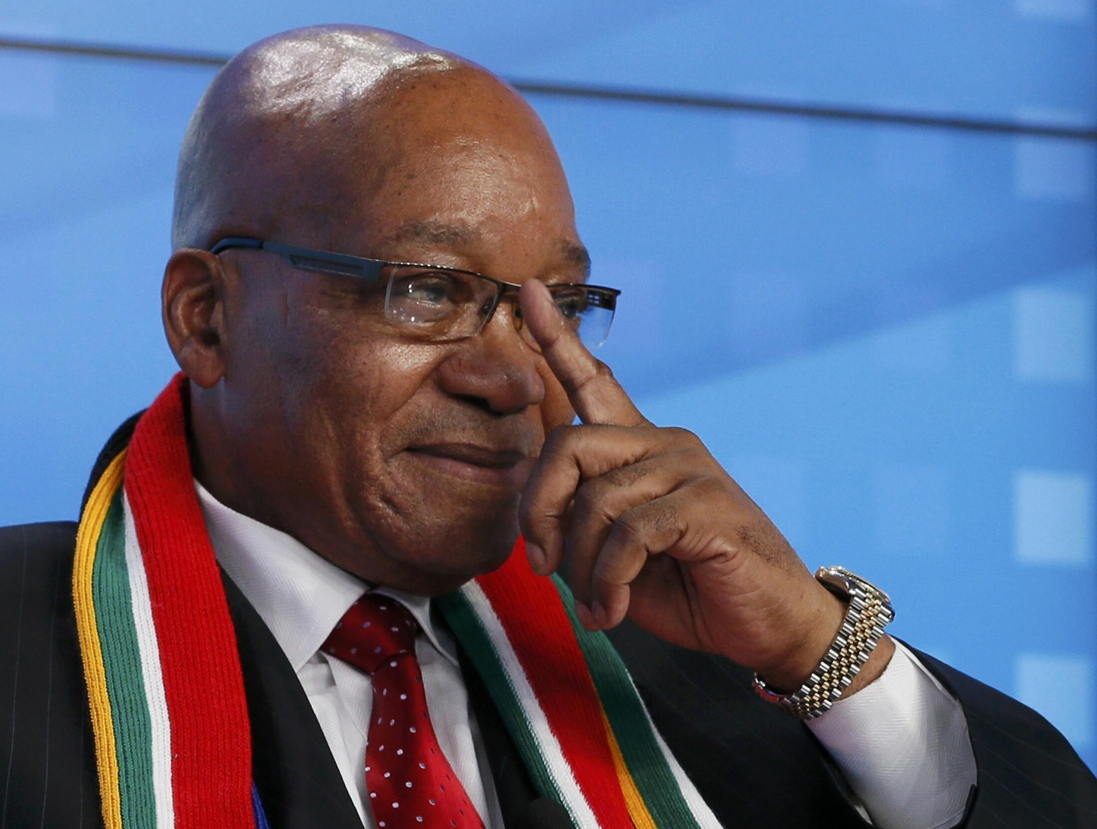 Jacob Zuma, ici à Davos le 23 janvier 2013, a jugé qu'il n'y avait «pas d'alternative» à l'intervention française.