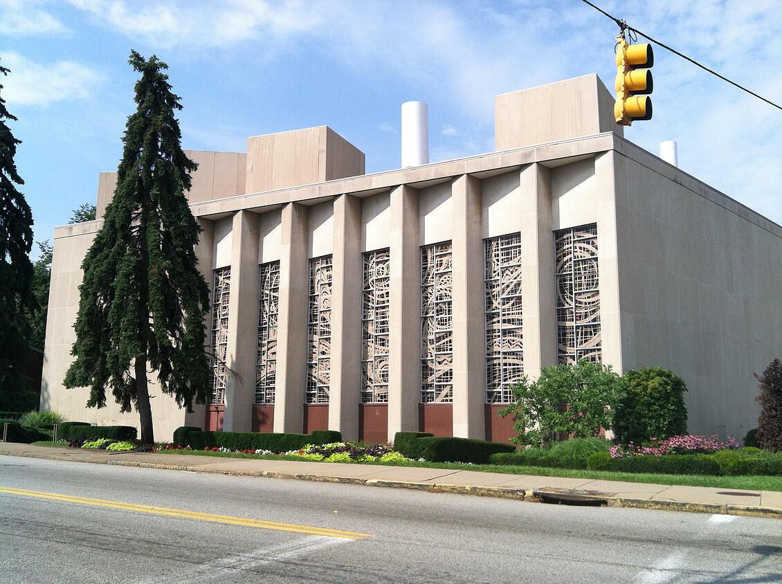 Le bâtiment de la synagogue de la Tree of life congregation à Pittsburh, Pennsylvanie (illustration non datée).