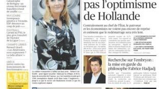 """Reprodução da manchete do jornal """"Le Figaro"""" desta terça-feira, 16 de julho de 2013."""