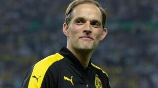 Thomas Tuchel en 2017 au moment où il entraînait le Borussia Dortmund.