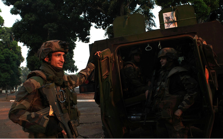 Soldados franceses en Bangui, la capital centroafricana, el 22 de diciembre de 2013.