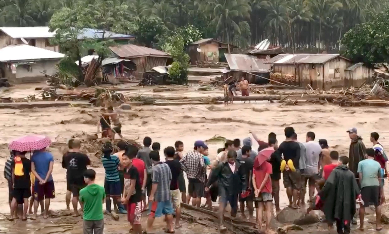 菲律賓南部的棉蘭老島災區資料圖片