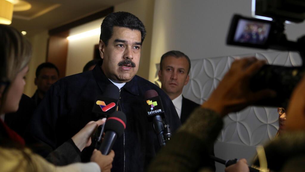 Le président vénézuélien Nicolas Maduro s'exprime en marge d'une rencontre à Moscou en Russie le 6 décembre 2018.