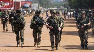 Des soldats français à Bangui, le 8 décembre 2013.